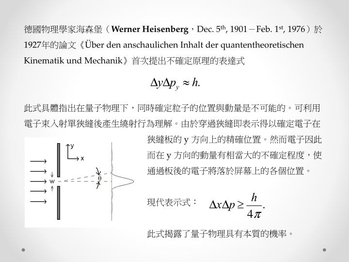 德國物理學家海森堡