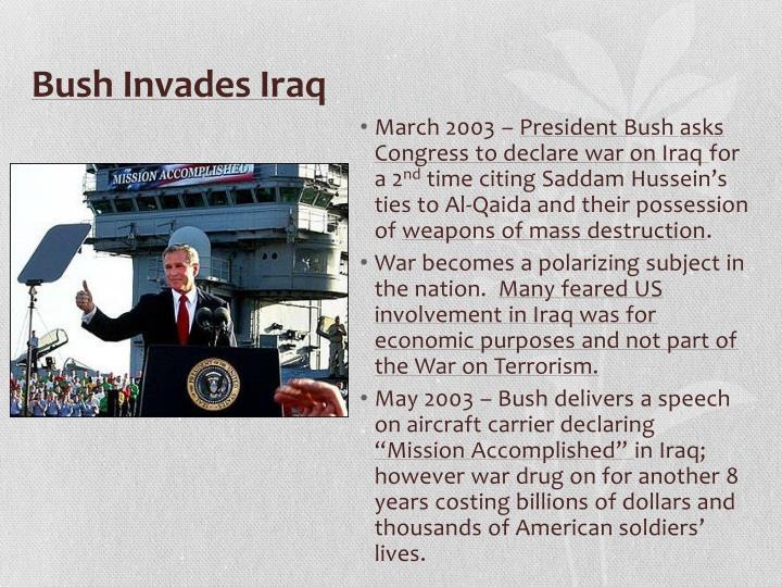 Bush Invades Iraq
