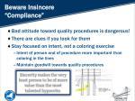 beware insincere compliance