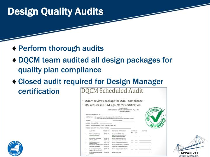 Design Quality Audits