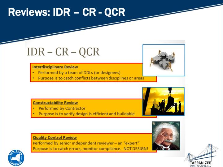 Reviews: IDR – CR - QCR