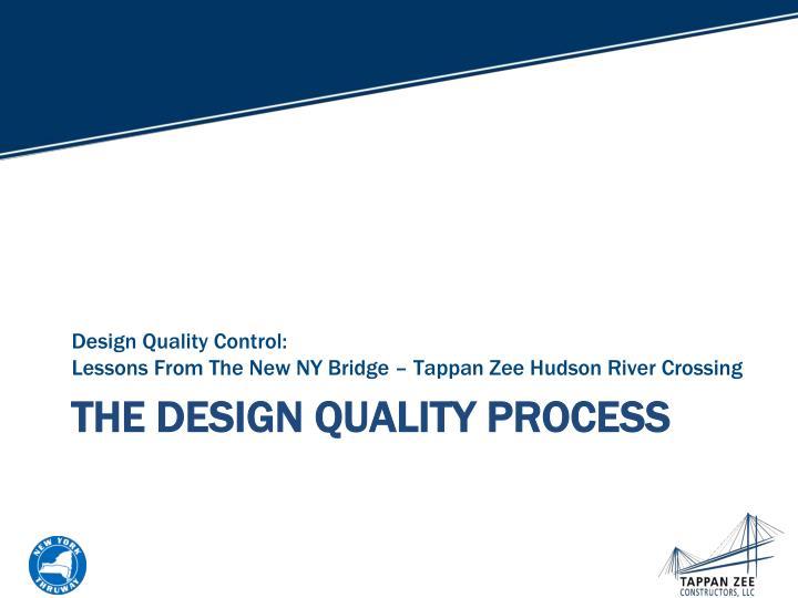 Design Quality Control: