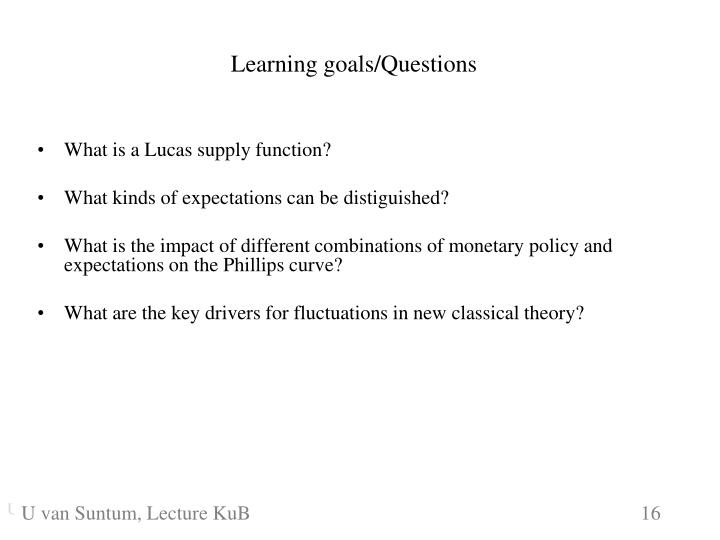 What is a Lucas supply function?