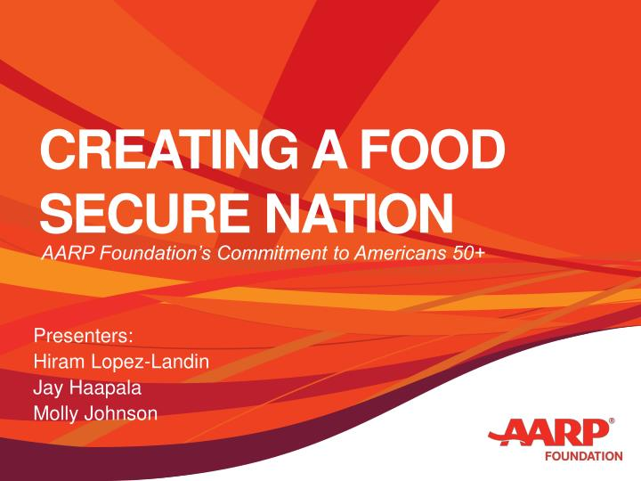 Creating a food secure nation
