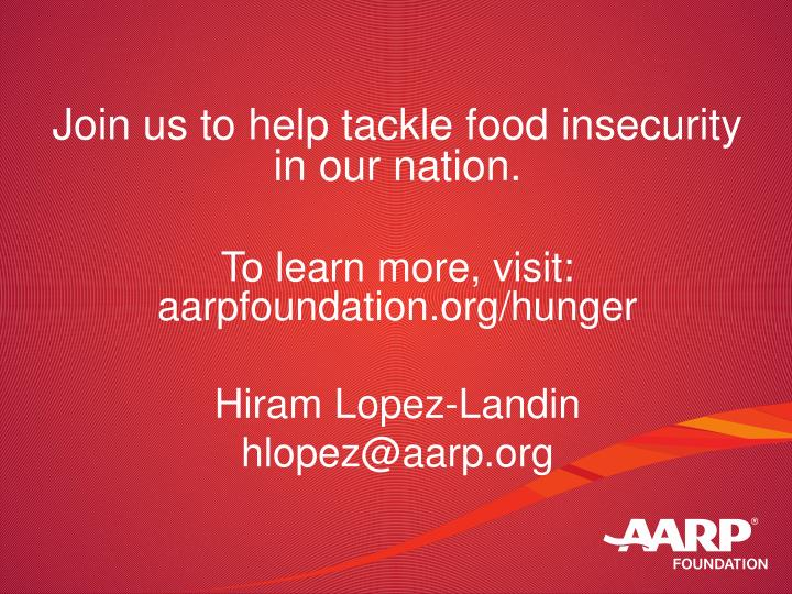 Join us to help tackle food insecurity in our nation.