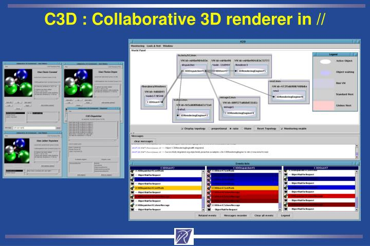 C3D : Collaborative 3D renderer in //