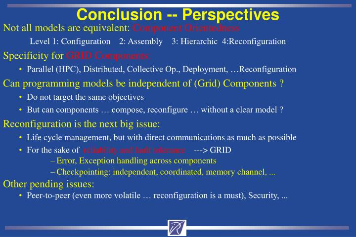 Conclusion -- Perspectives