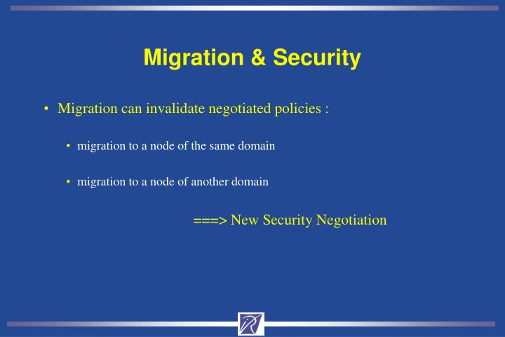 Migration & Security