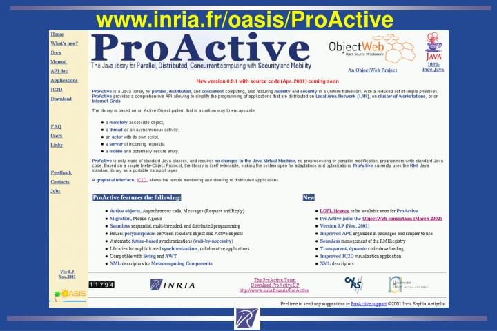 www.inria.fr/oasis/ProActive