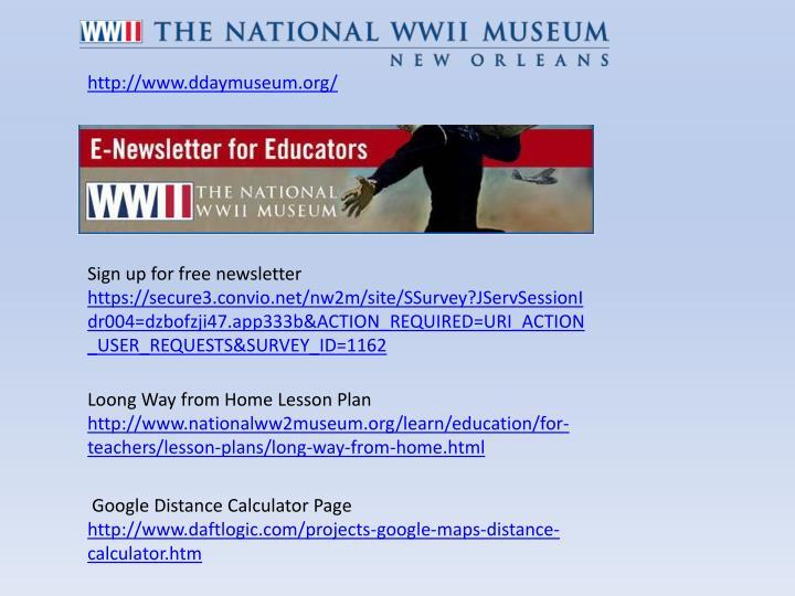 http://www.ddaymuseum.org/