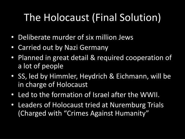 The Holocaust (Final Solution)