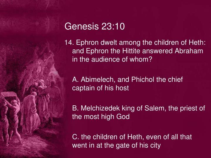 Genesis 23:10