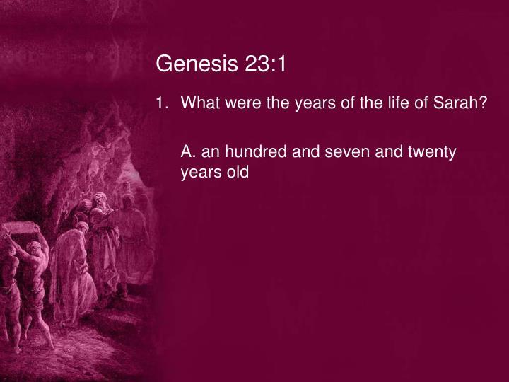 Genesis 23:1