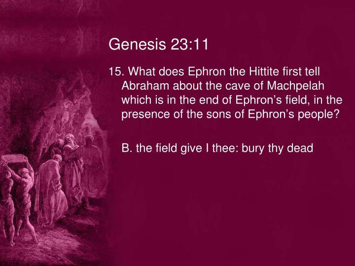 Genesis 23:11