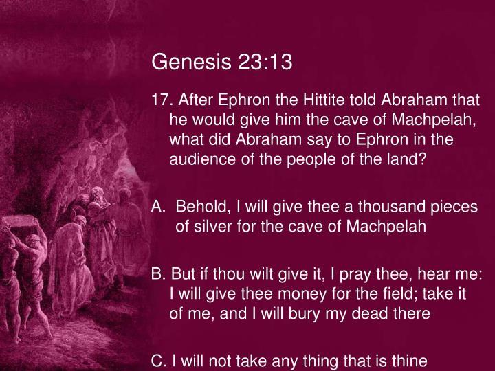 Genesis 23:13