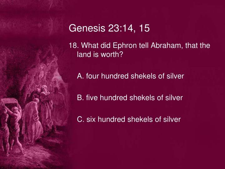 Genesis 23:14, 15