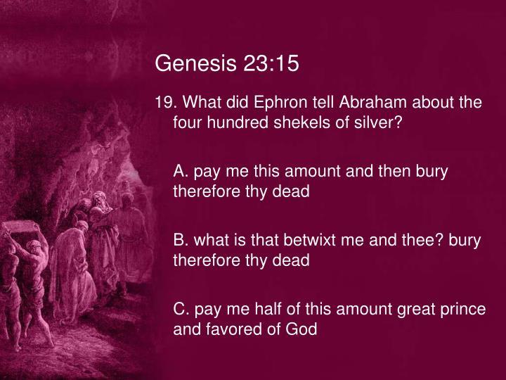 Genesis 23:15