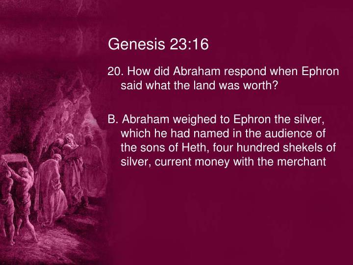 Genesis 23:16