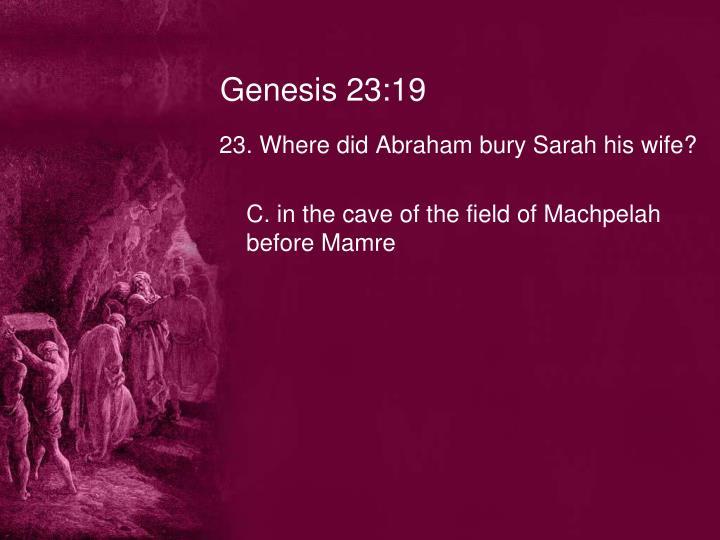 Genesis 23:19