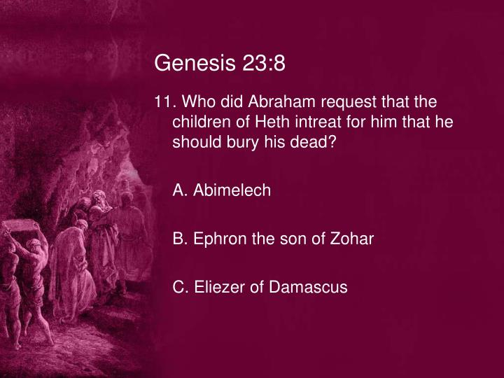 Genesis 23:8
