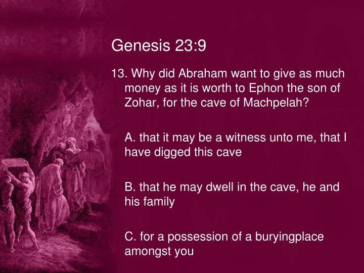 Genesis 23:9