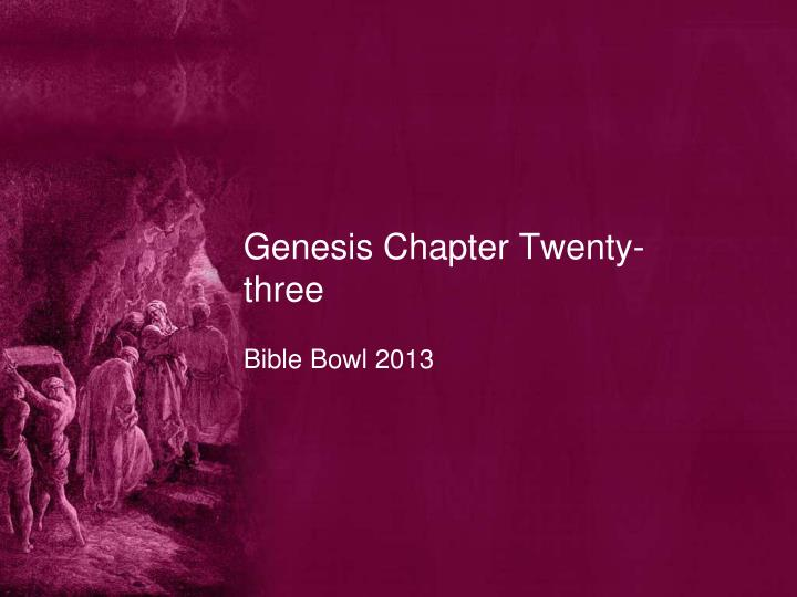 Genesis chapter twenty three