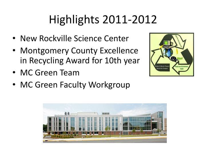 Highlights 2011-2012