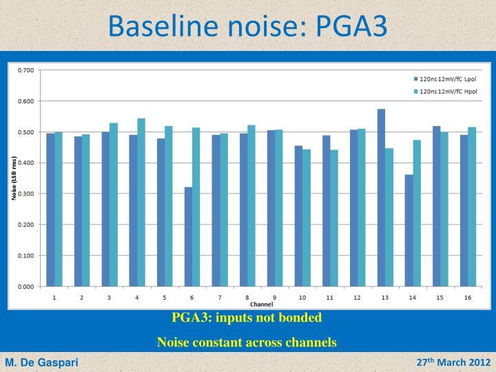 Baseline noise: PGA3