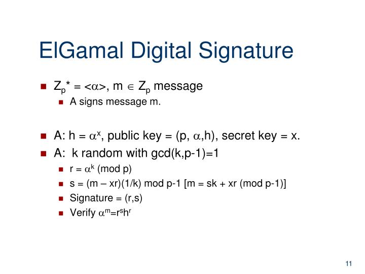 ElGamal Digital Signature
