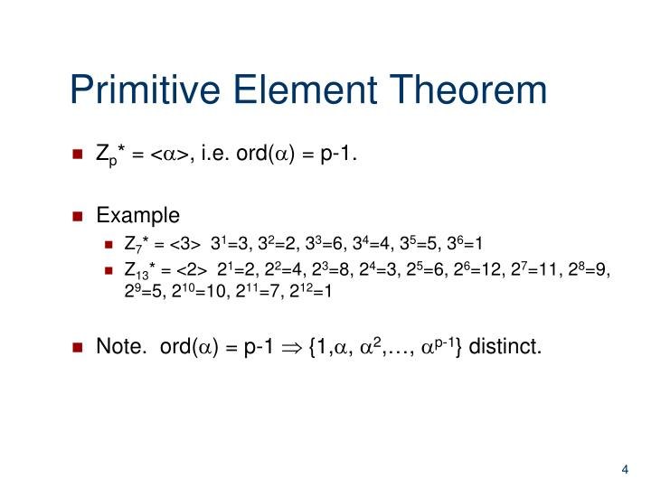 Primitive Element Theorem