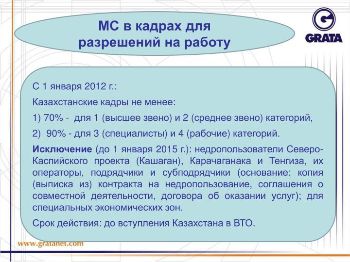 МС в кадрах для разрешений на работу