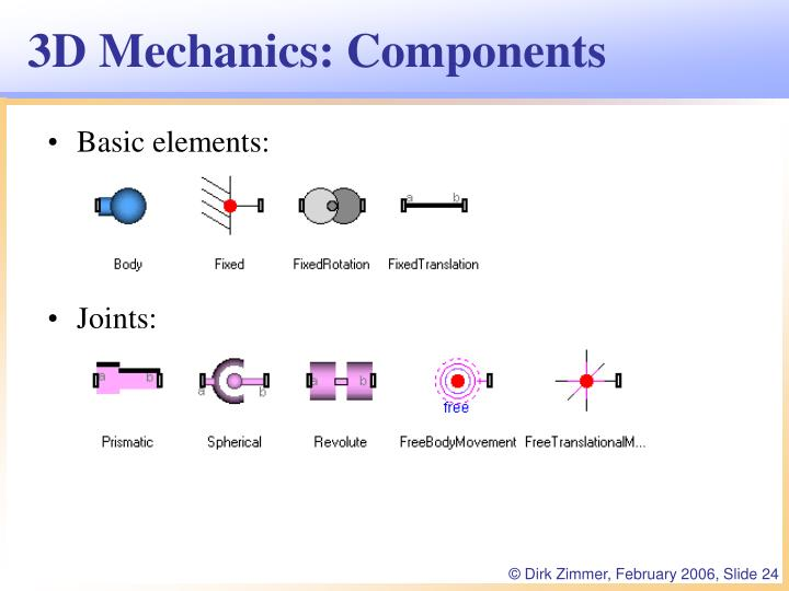 3D Mechanics: Components