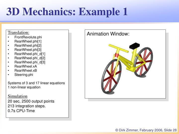 Animation Window: