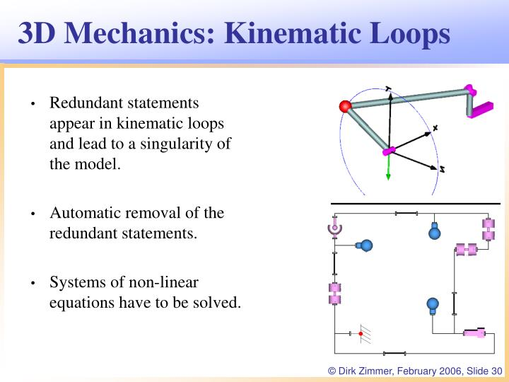3D Mechanics: Kinematic Loops