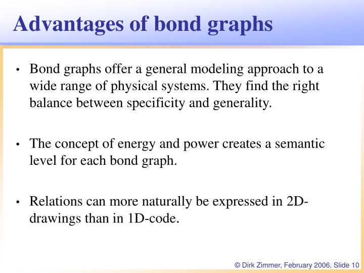 Advantages of bond graphs
