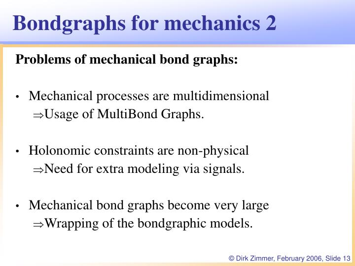 Bondgraphs for mechanics 2