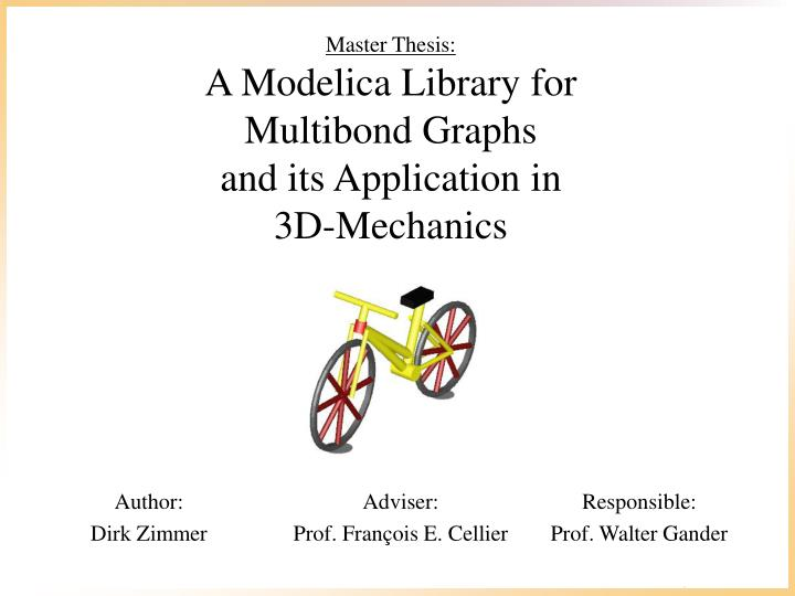 Master thesis a modelica library for multibond graphs and its application in 3d mechanics