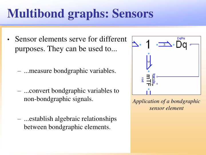 Multibond graphs: Sensors
