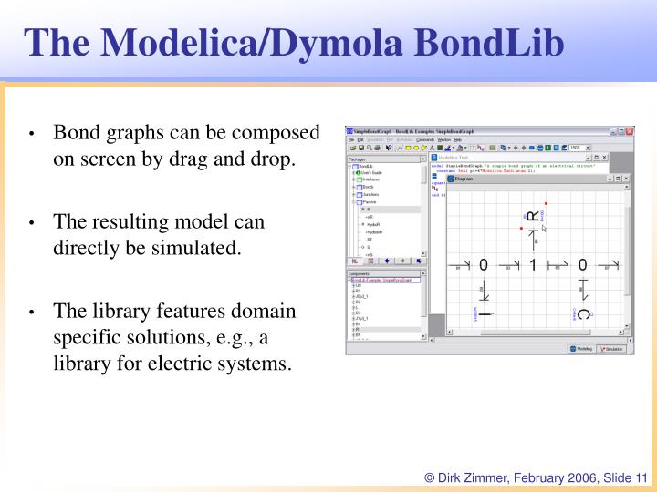 The Modelica/Dymola BondLib