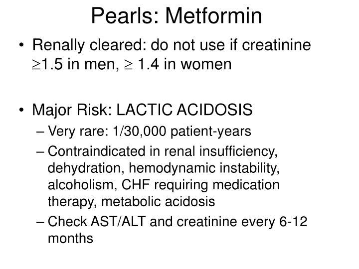 Pearls: Metformin