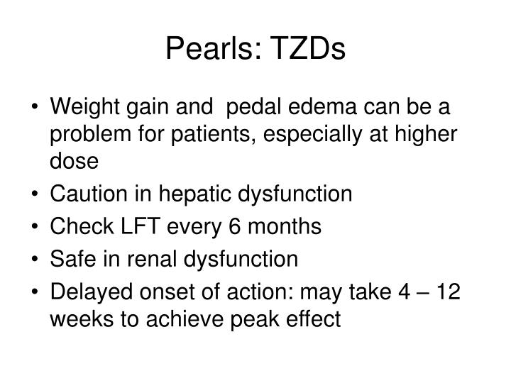 Pearls: TZDs