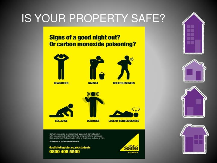 IS YOUR PROPERTY SAFE?