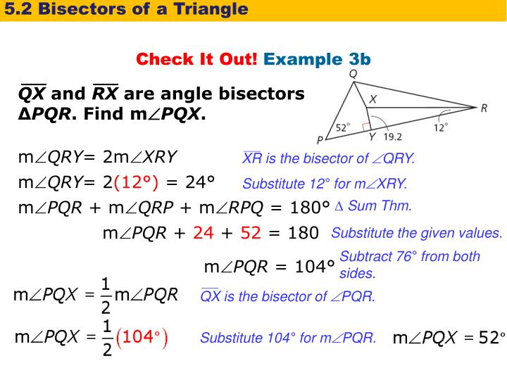 5.2 Bisectors of a Triangle