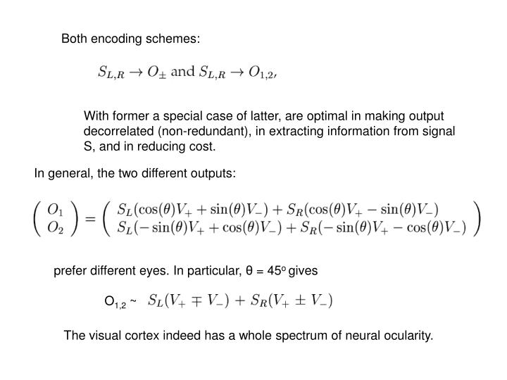 Both encoding schemes: