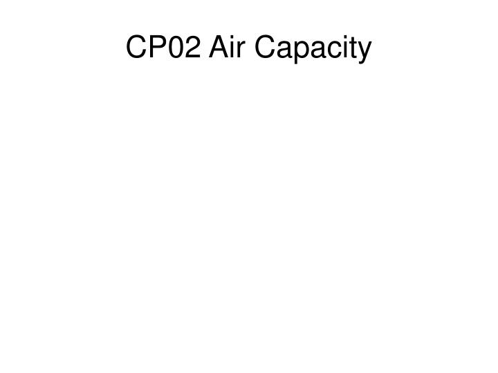 CP02 Air Capacity