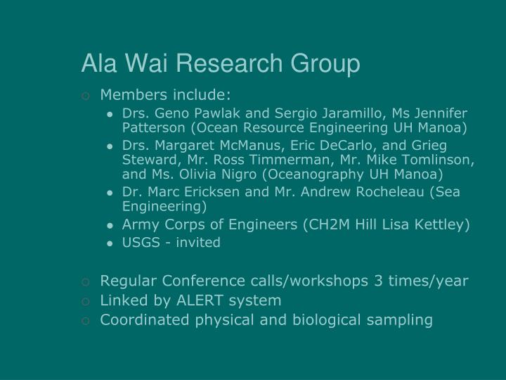 Ala Wai Research Group