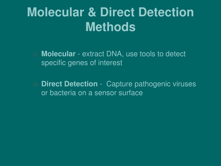 Molecular & Direct Detection Methods