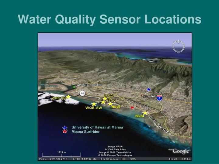 Water quality sensor locations