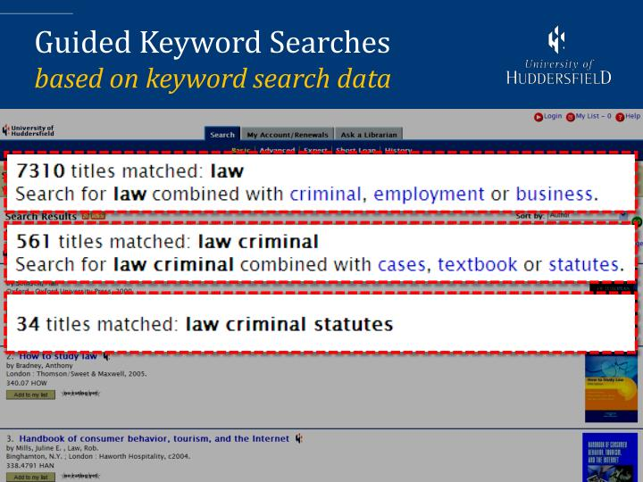 Guided Keyword Searches
