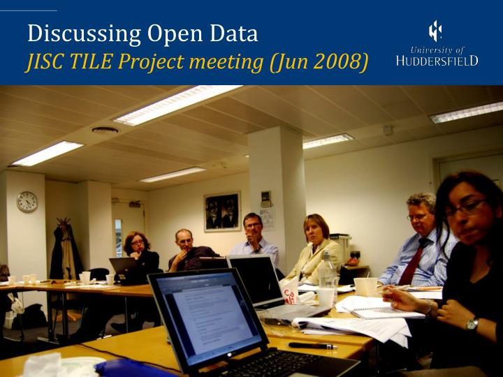 Discussing Open Data